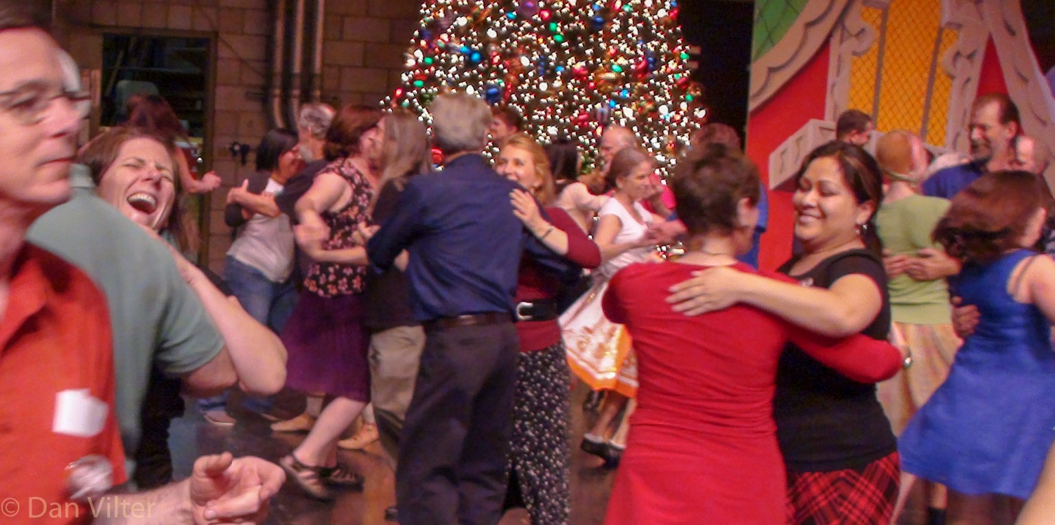 Group Dancing at Boxing Day